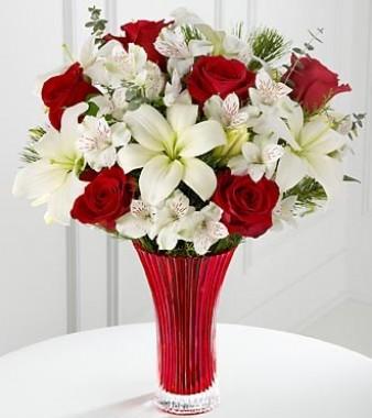 Букет лилии и розы